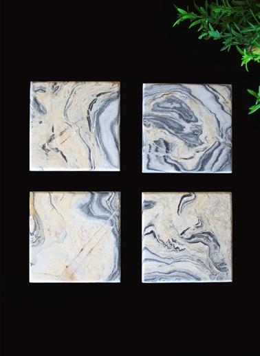 4'lü Picasso Bardak Altlığı-Marble&Etc.